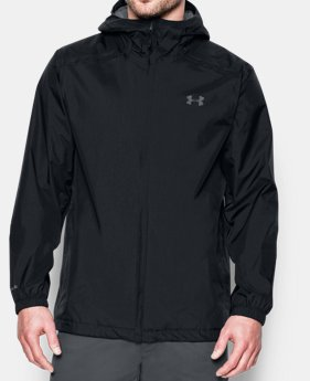 Under Armour Outrun The Storm Mens Running Jacket Blue Men's Clothing Jackets & Vests