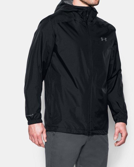 Men's UA Storm Bora Jacket, Black, pdpMainDesktop image number 1