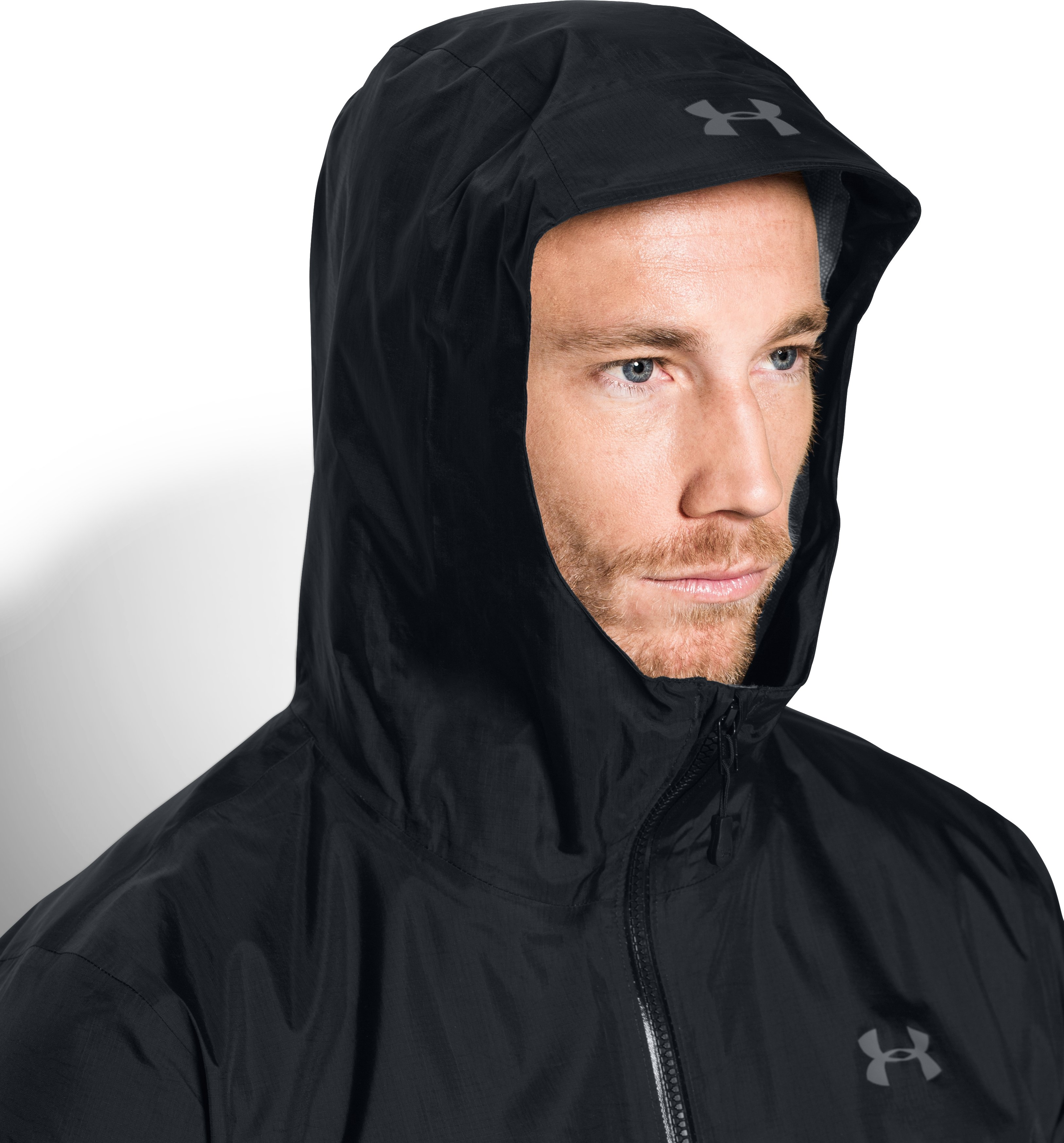 Men's UA Surge Waterproof Jacket, Black