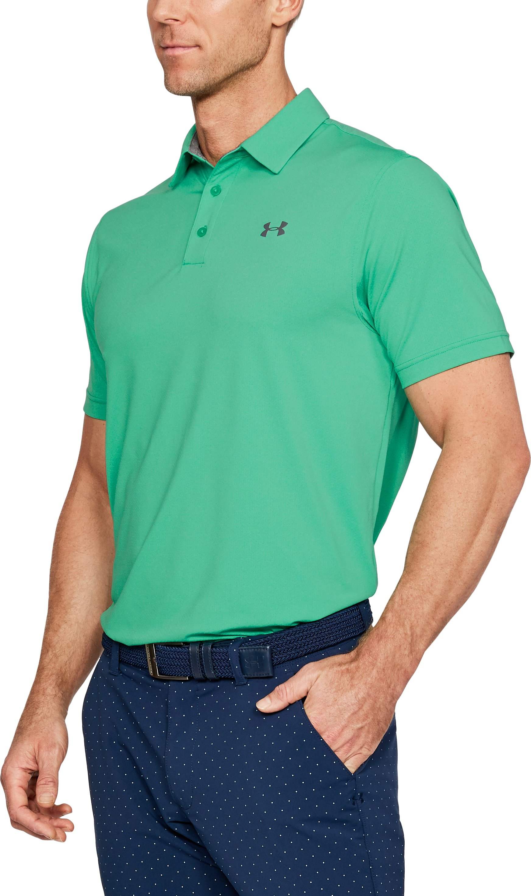 Men's UA Playoff Vented Polo, Jade