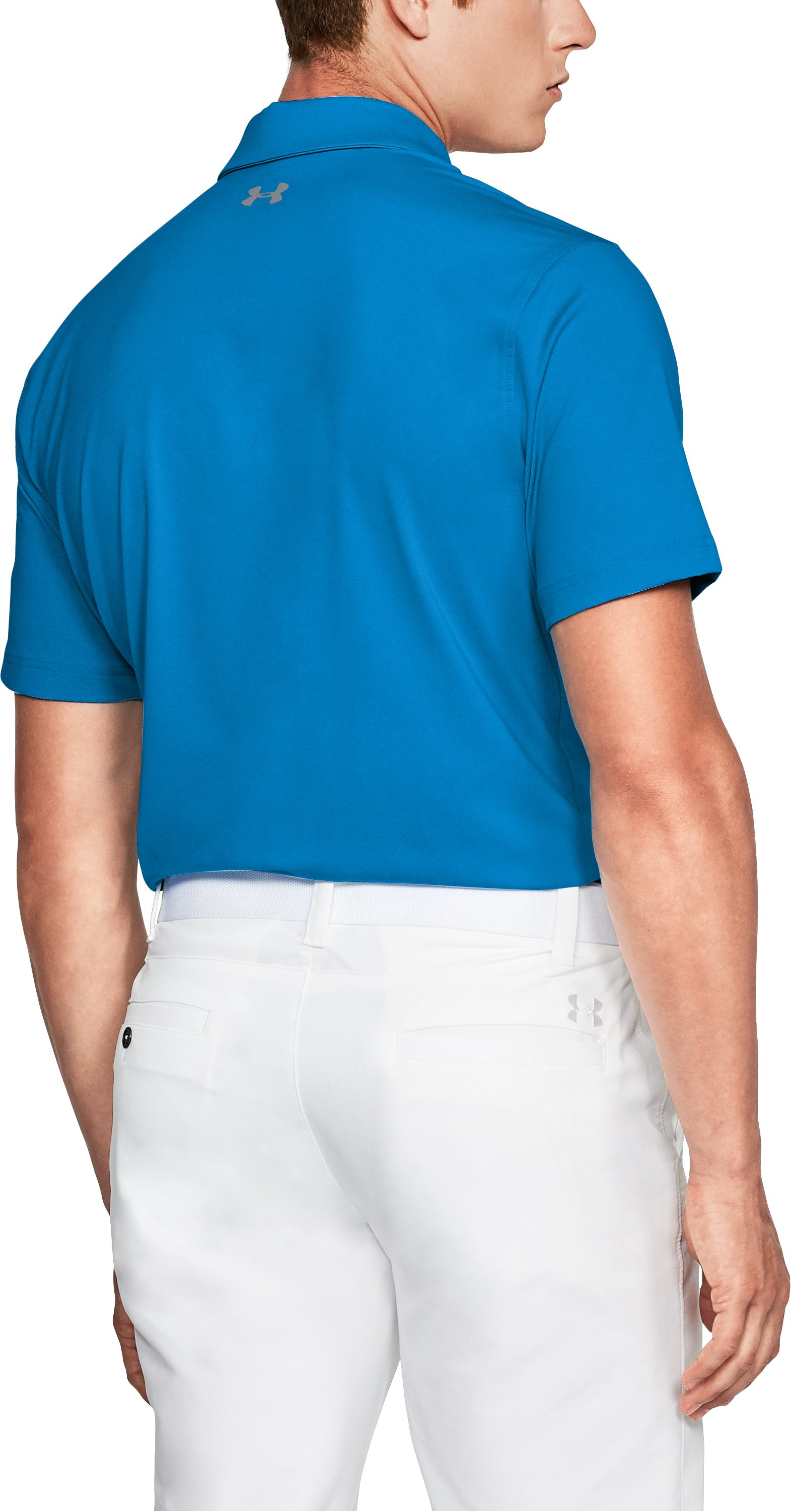 Men's UA Playoff Vented Polo, MAKO BLUE,