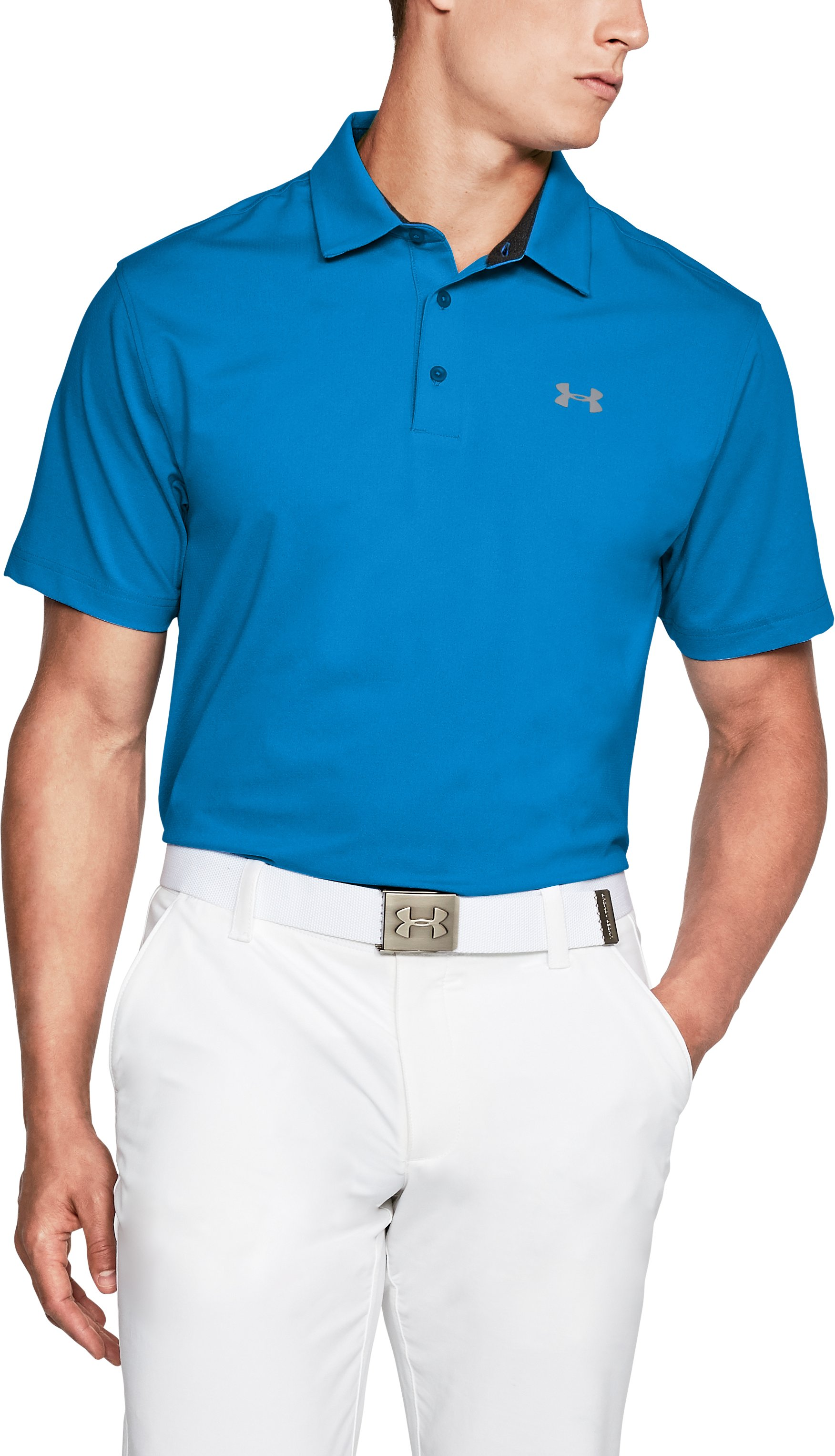 Men's UA Playoff Vented Polo, MAKO BLUE