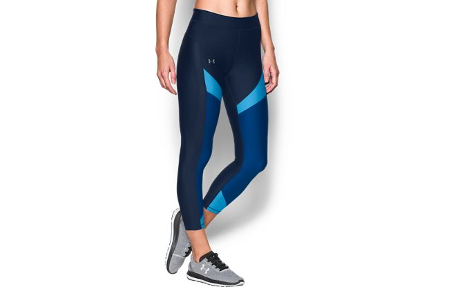 女士UA HeatGear® Color Blocked Ankle Crop紧身裤