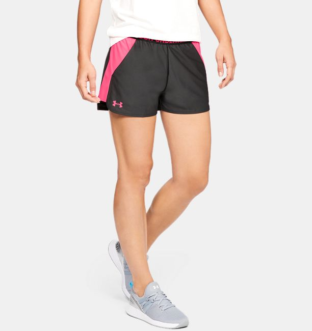 Women's UA Play Up 2.0 Shorts, Jet Gray, , Jet Gray, Click to view full size