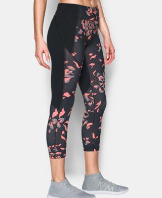 女子UA Mirror Printed Crop中褲