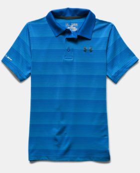 Boys' UA coldblack Chip In Stripe Polo