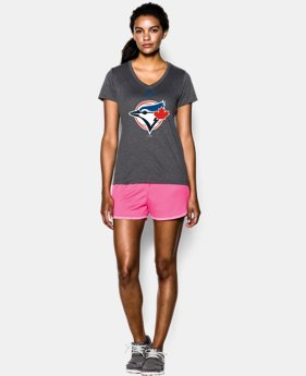 Women's UA Tech™ Blue Jays Icon V-Neck