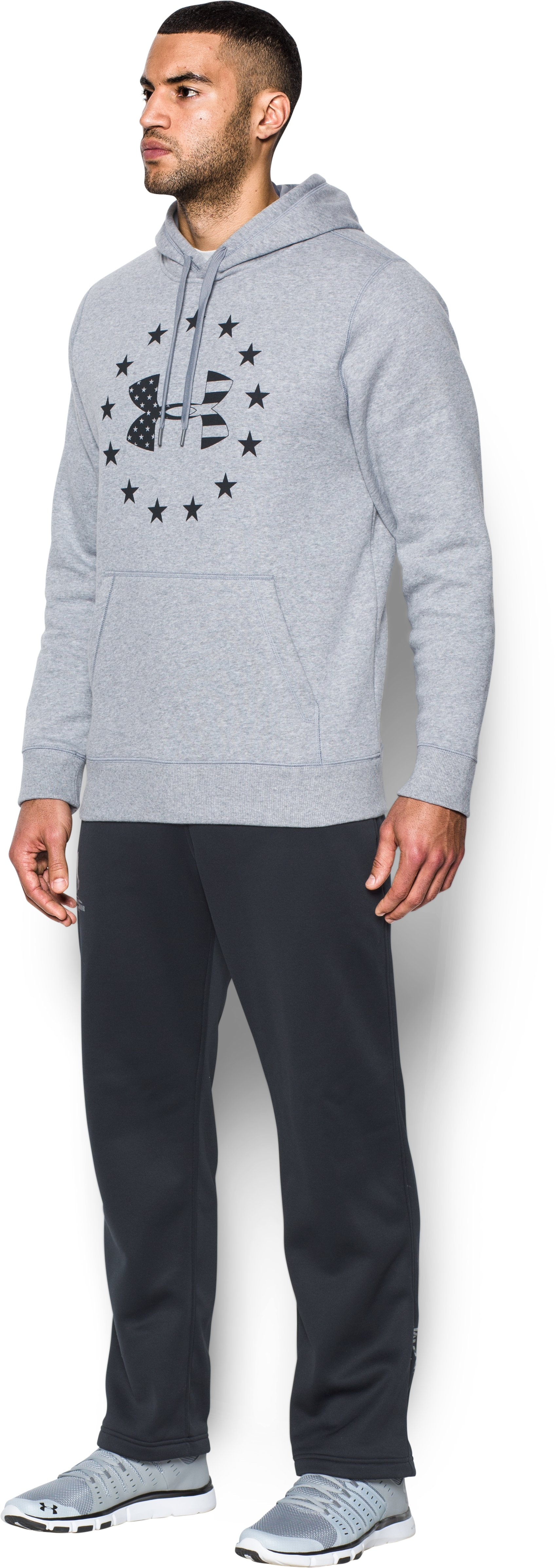Men's UA Freedom BFL Hoodie, True Gray Heather, undefined