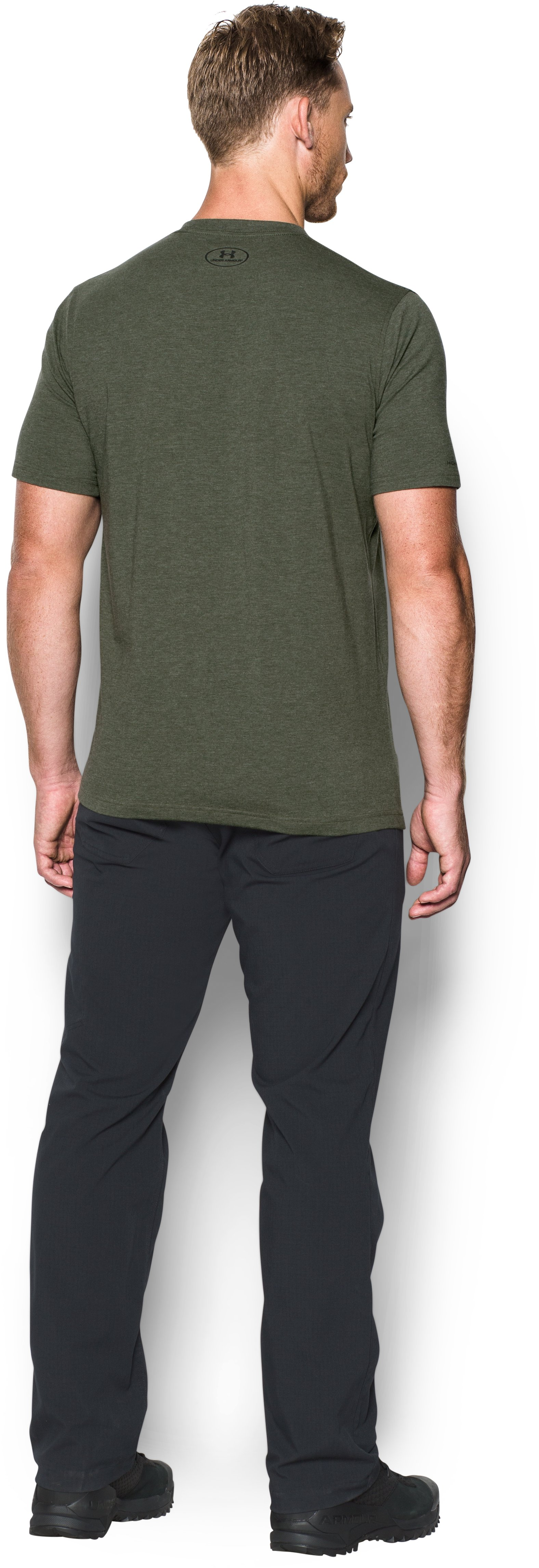 Men's UA No Guts T-Shirt, DOWNTOWN GREEN, Back