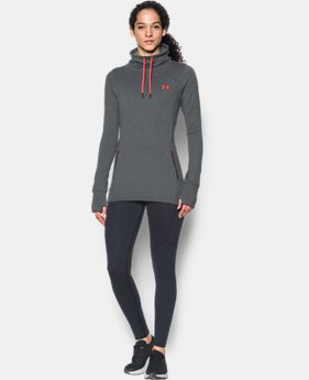 Women's UA Featherweight Fleece Slouchy Popover  3 Colors $69.99