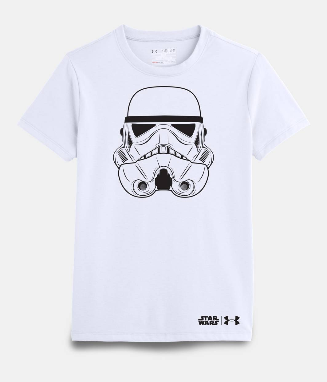 Girls 39 star wars storm trooper ua t shirt under armour us for Under armor business shirts