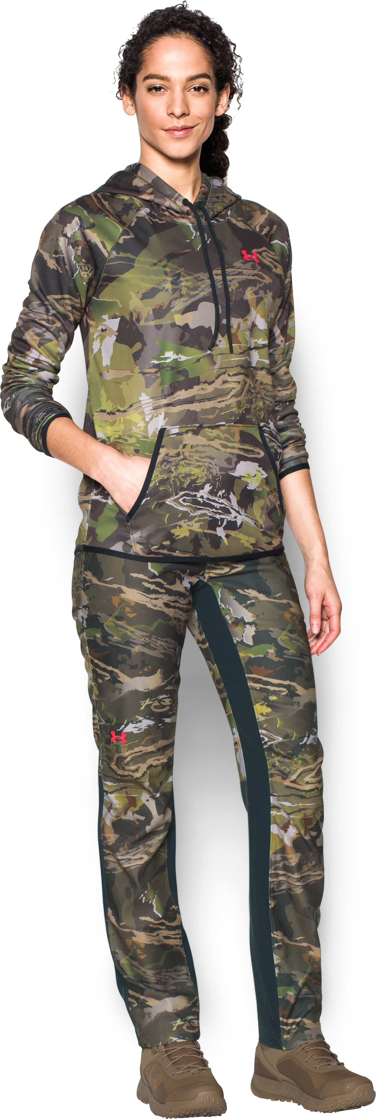 Women's UA Fletching Pants, RIDGE REAPER® FOREST, Front