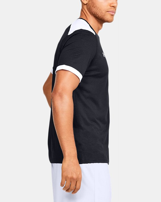 Men's UA Microthread Match Jersey, Black, pdpMainDesktop image number 6