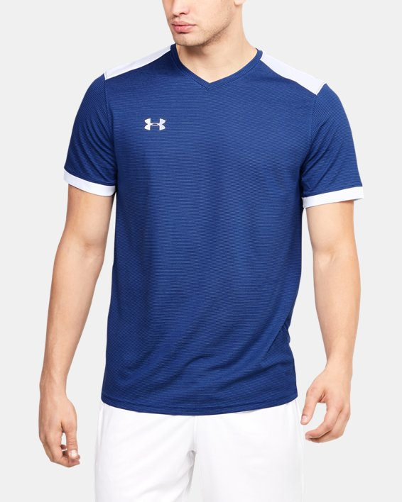 Men's UA Microthread Match Jersey, Blue, pdpMainDesktop image number 4