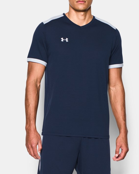 Men's UA Microthread Match Jersey, Navy, pdpMainDesktop image number 0