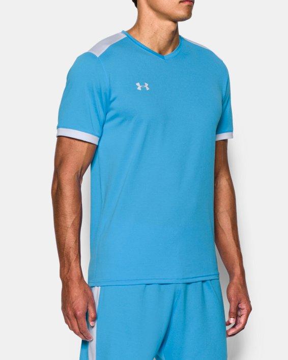 Men's UA Microthread Match Jersey, Blue, pdpMainDesktop image number 1