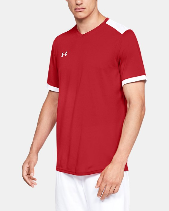 Men's UA Microthread Match Jersey, Red, pdpMainDesktop image number 1