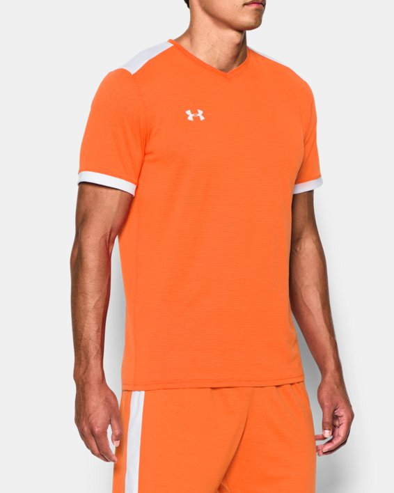 Men's UA Microthread Match Jersey, Orange, pdpMainDesktop image number 1