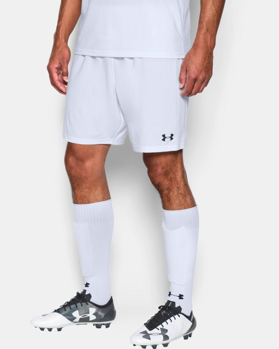 Men's UA Microthread Match Shorts, White, pdpMainDesktop image number 2