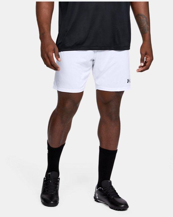 Men's UA Microthread Match Shorts, White, pdpMainDesktop image number 0
