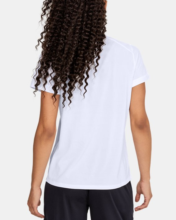 Women's UA Microthread Match Jersey, White, pdpMainDesktop image number 4
