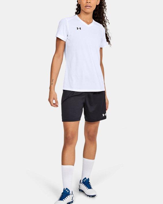Women's UA Microthread Match Jersey, White, pdpMainDesktop image number 3