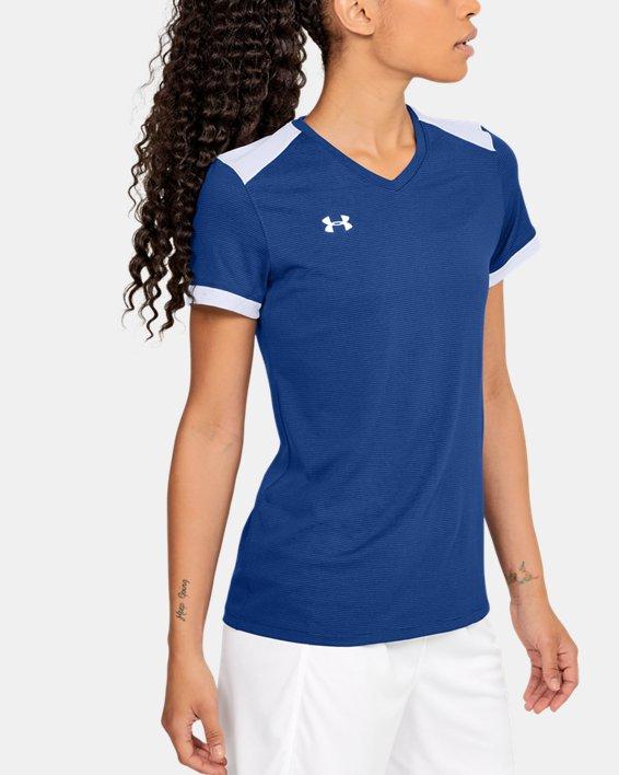 Women's UA Microthread Match Jersey, Blue, pdpMainDesktop image number 5