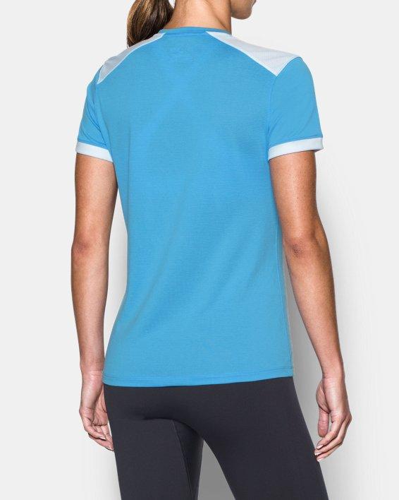 Women's UA Microthread Match Jersey, Blue, pdpMainDesktop image number 2