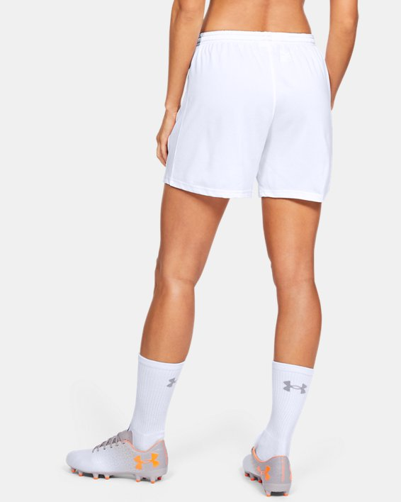 Women's UA Microthread Match Shorts, White, pdpMainDesktop image number 3