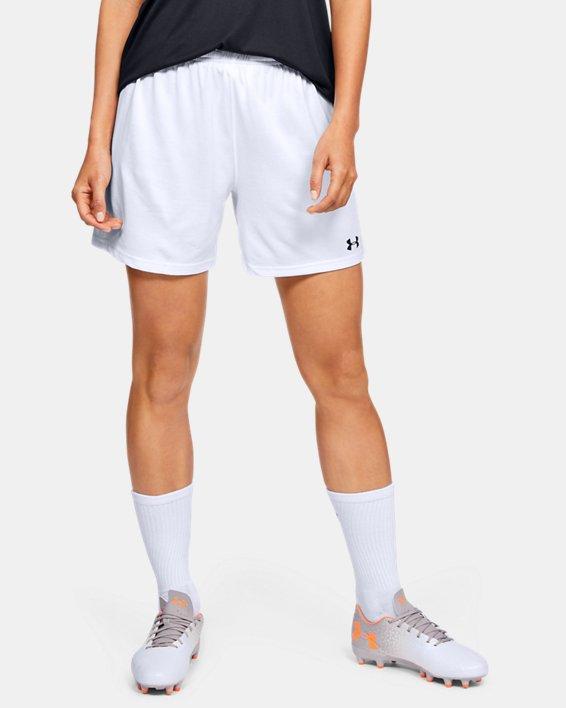 Women's UA Microthread Match Shorts, White, pdpMainDesktop image number 0