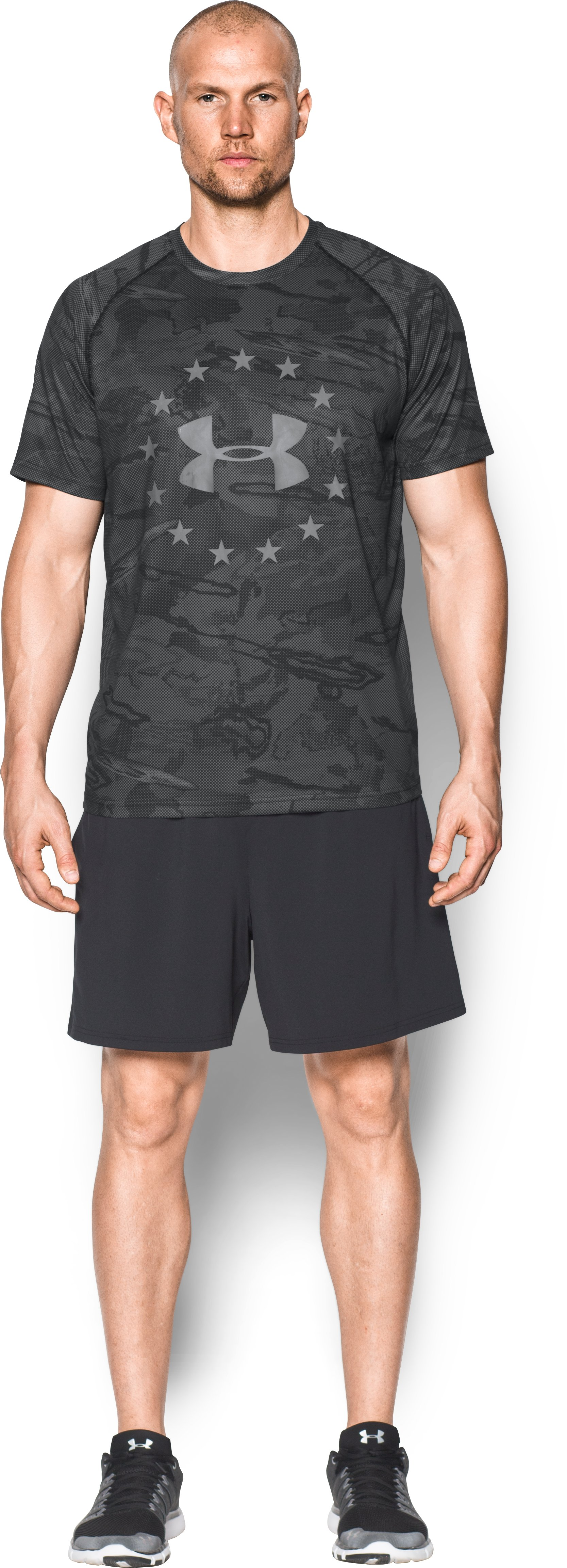 Men's UA Freedom Reaper Tech™ T-Shirt, Black , Front