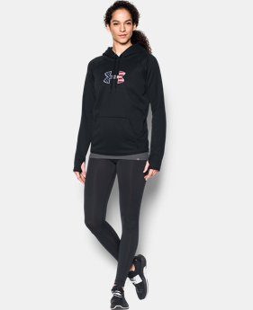 Women's UA Big Flag Logo Hoodie  3 Colors $64.99