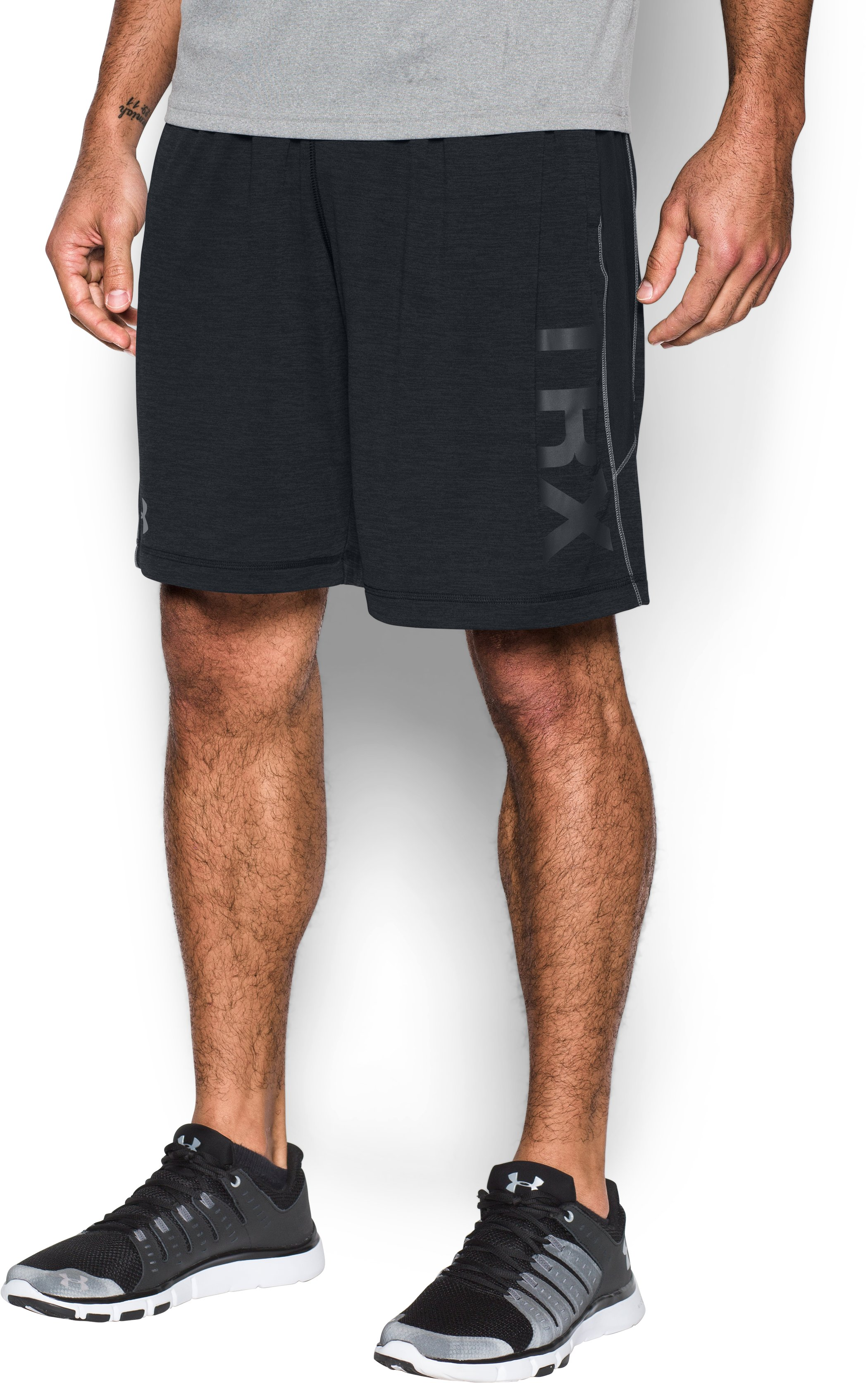 Men's TRX UA Raid Printed Shorts, Black