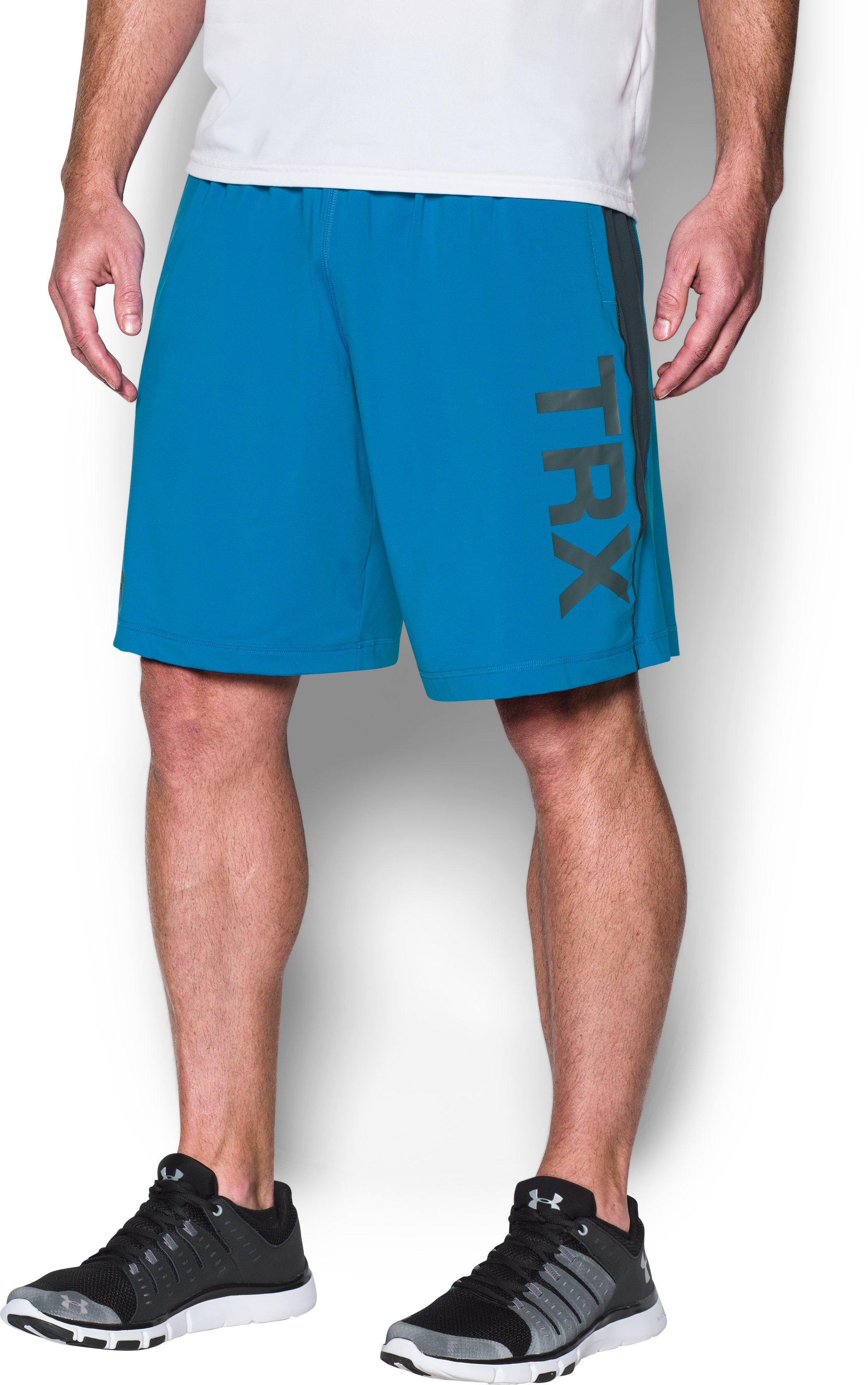 Men's UA + TRX® Raid Shorts, BRILLIANT BLUE, zoomed image