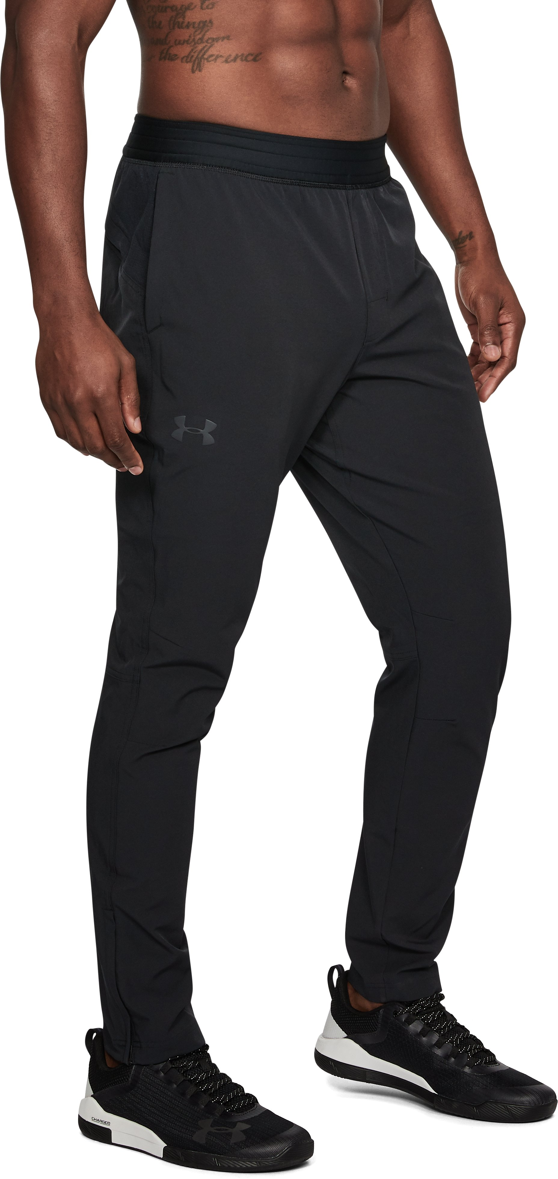 Men's TRX UA Woven Training Pants, Black