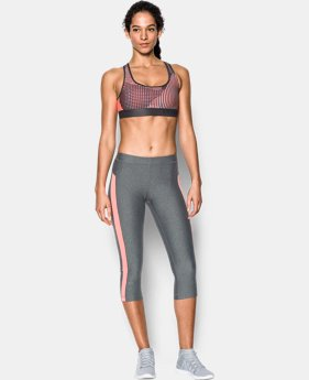 Women's Armour® Crossback Embossed Elastic Sports Bra  2 Colors $21.99