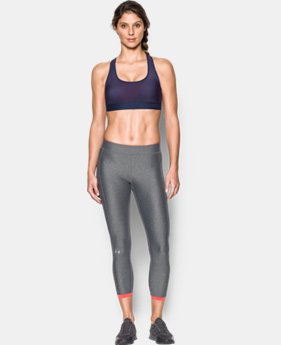 Women's Armour® Crossback Embossed Elastic Sports Bra  1 Color $18