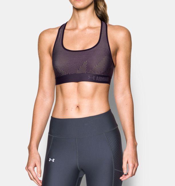 61e05c19fa Women s Armour® Crossback Embossed Elastic Sports Bra