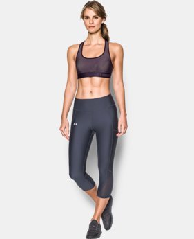 Women's Armour® Crossback Embossed Elastic Sports Bra  1  Color Available $33.99