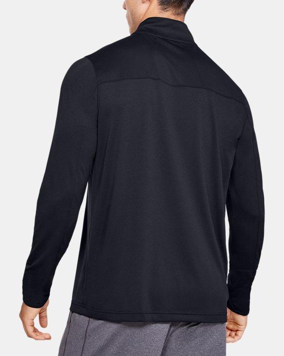 Men's UA Reflex Rival ¼ Zip, Black, pdpMainDesktop image number 2