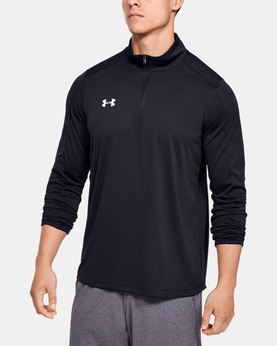 Men's UA Reflex Rival ¼ Zip, Black, pdpMainDesktop image number 1