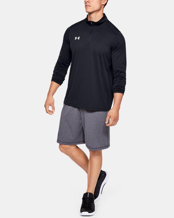 Men's UA Reflex Rival ¼ Zip, Black, pdpMainDesktop image number 0