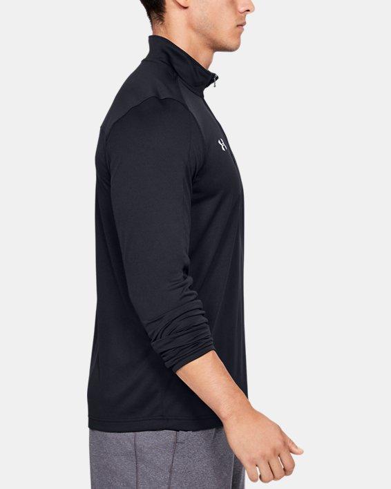 Men's UA Reflex Rival ¼ Zip, Black, pdpMainDesktop image number 3