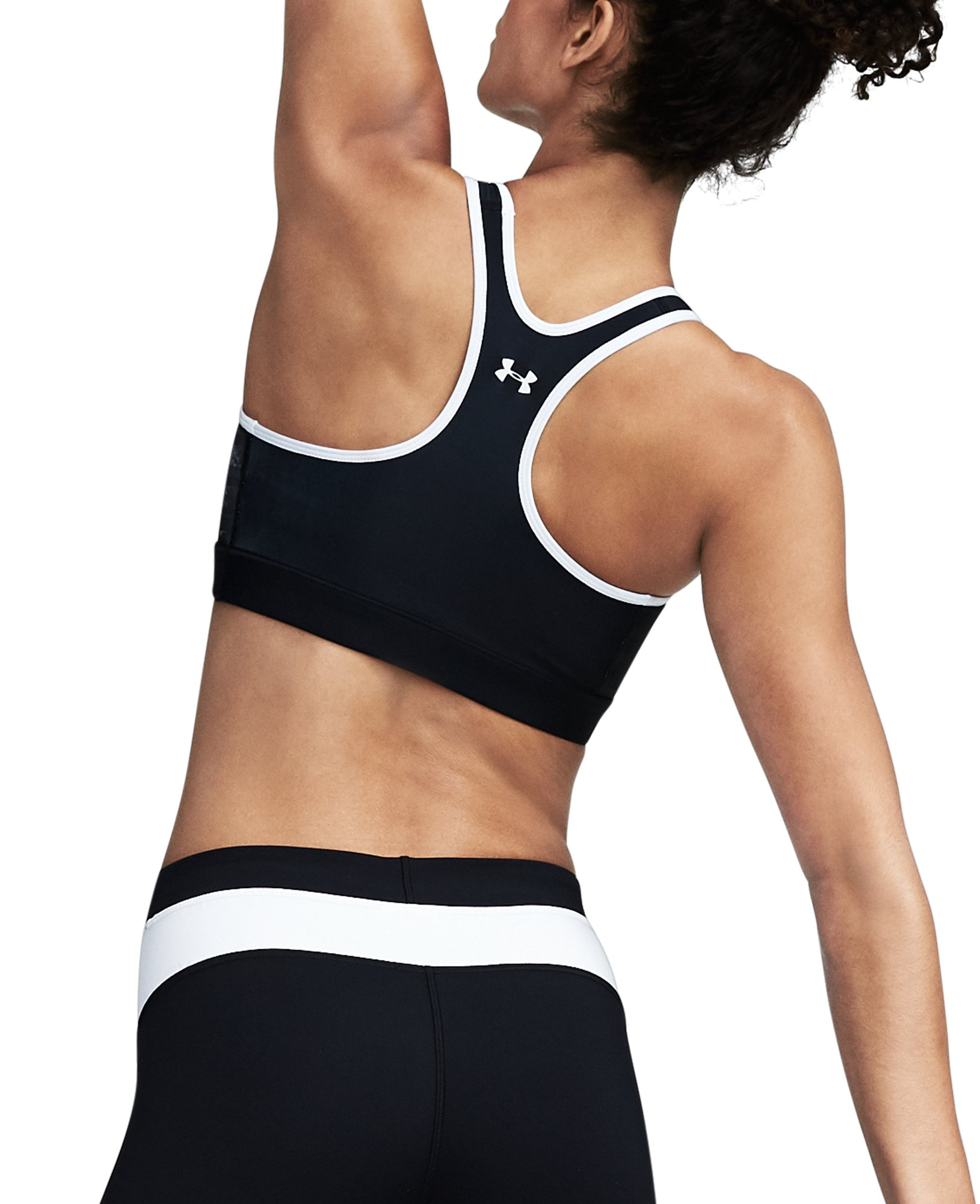 Women's UA Armour® Mid Reversible Sports Bra, ANTHRACITE,