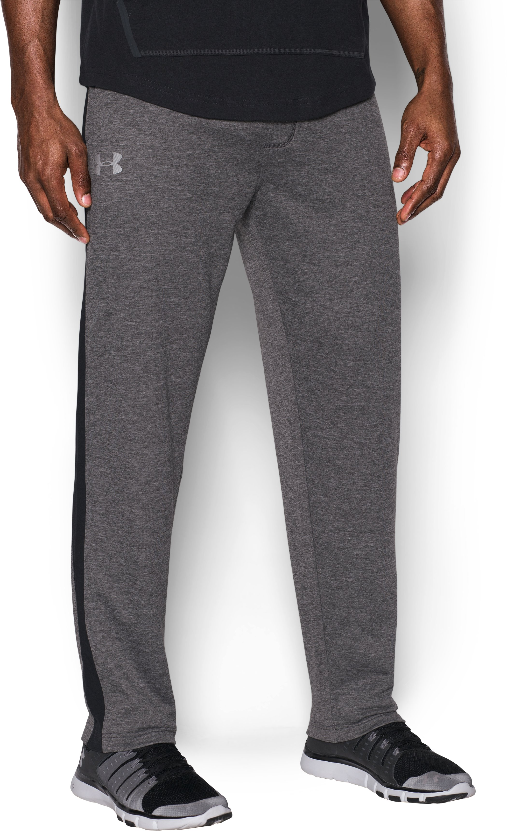Men's UA Tech™ Terry Pants, Carbon Heather, undefined