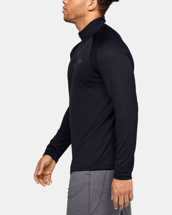 Men's UA Velocity 2.0 ¼ Zip, Black, pdpMainDesktop image number 3