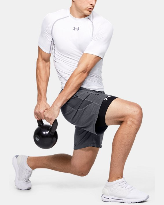 Men's HeatGear® Armour Shorts, Black, pdpMainDesktop image number 1