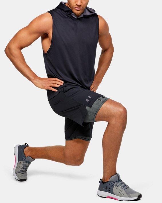 Men's HeatGear® Armour Shorts, Gray, pdpMainDesktop image number 1