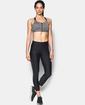 Women's Armour® Eclipse High Heathered Zip Sports Bra  1 Color $59.99