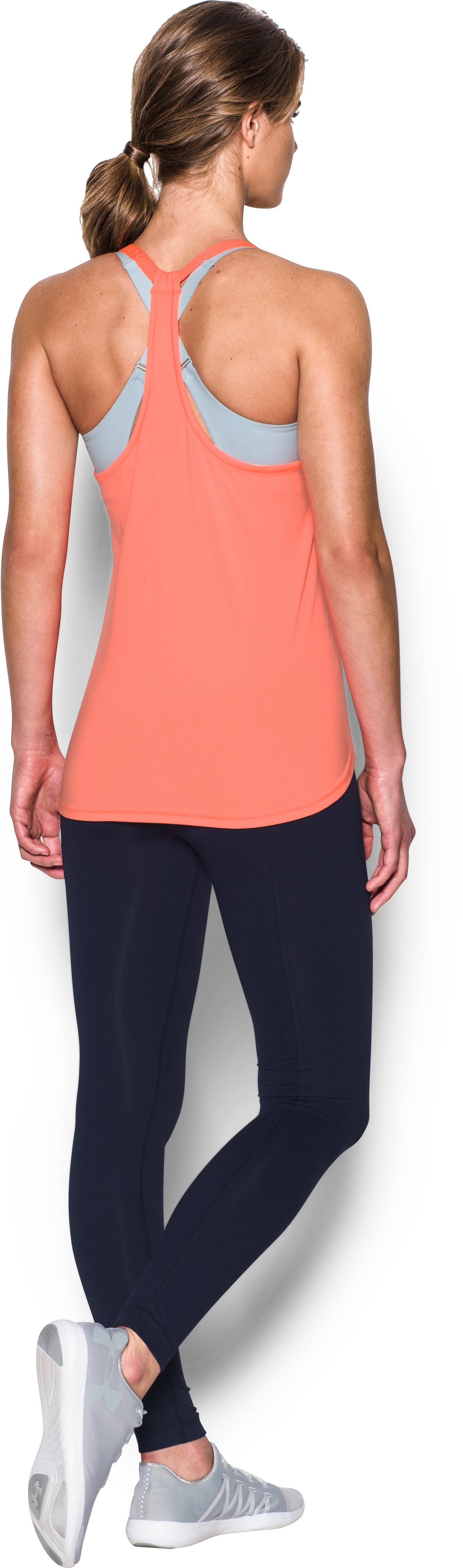 Women's UA HeatGear® Armour CoolSwitch Tank, LONDON ORANGE, Back